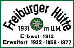 Freiburger Hüttenschild