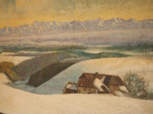 Nicht nur auf Fotos wunderschön - unsere Freiburger Hütte und das umliegende Alpenpanorama diente hier als Motiv für Maler und Zeichner