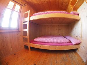 Unsere Doppelzimmer - eine begehrte Unterkunft in einer DAV-Hütte in den Alpen in Österreich