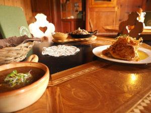 Ein Beispiel für unser Abendessen, das bei gebuchter Halbpension serviert wird
